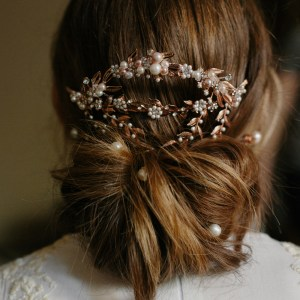 mantilla wedding hair comb
