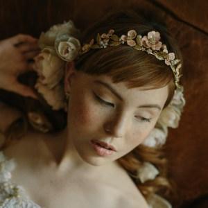 bridal crown, blossoms, rose, wedding, tiara, wedding, accessories, boho crown