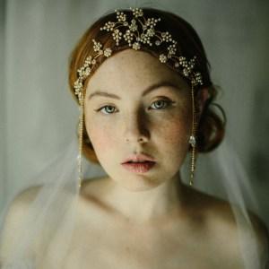 1920s bridal headpiece