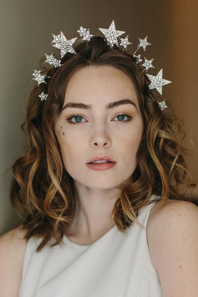Cosmic Beauty star wedding crown