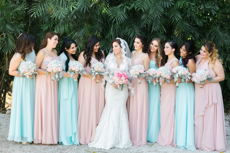 the walton house wedding blush bridesmaids