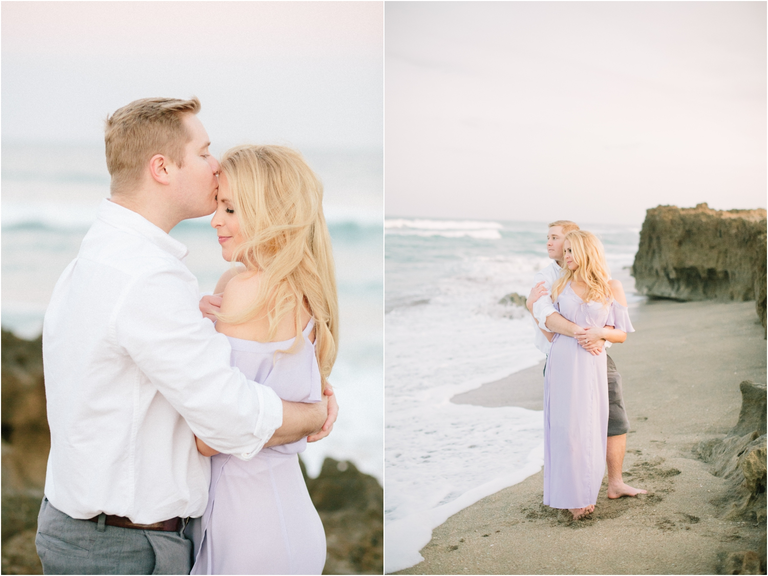 beach engagement photos in florida