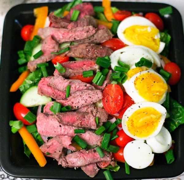 Blue Cheese Steak Salad | ericajulson.com