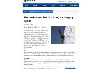 Rotterdammer beklimt hoogste berg op aarde