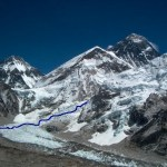 Route door de Khumbu IJsval