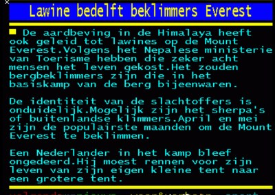 Teletekst Pagina 26 April
