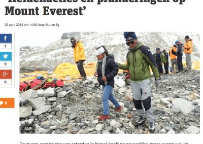 Metro – 'Heldenacties en plunderingen op Mount Everest'