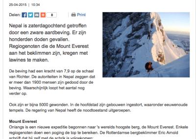 'Mount Everest lijkt wel een vluchtelingenkamp'