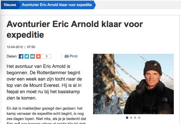 Interview Radio Rijnmond 12 april 2012: klaar voor de expeditie.