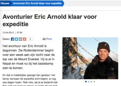 Interview Radio Rijnmond 15 mei 2012: Rotterdammer klaar voor toppoging.