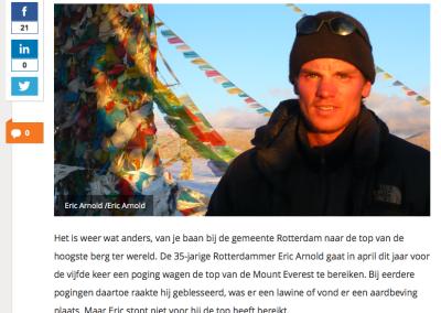 Metro – Rotterdamse ambtenaar beklimt de Mount Everest