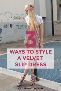 The slip dress is having a major moment this summer and this fall, with style-setters wearing it every which way, it easy to create different styles.