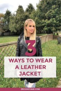 How to wear a leather jacket? There's nothing like the perfect leather jacket to take you from late summer temps to the cool beginnings of fall and winter.