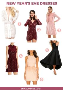 Here are 10 New Year's Eve party dresses. From lace gowns to velvet minidresses, there's something for everyone to make you feel beautiful and elegant.
