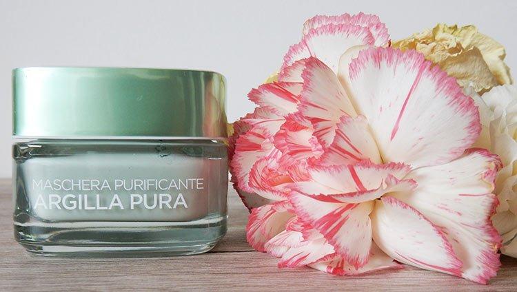 Le maschere argilla pura l'Oréal Paris: sono tre maschere, ognuna pensate per una specifica zona della pelle, essenziale, per la cura della pelle