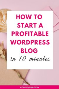 How to Start a Profitable WordPress Blog in 10 minutes? Today I'm going to explain how to create a profitable blog. Blogging is one of the most popular ways of communicating and spreading information and news. And the best part, you can make money with it!