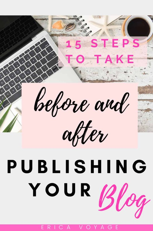 There is so much to think about when publishing a blog ,but these 15 easy steps to take before and after publishing your blog will ensure that it's up to standard.