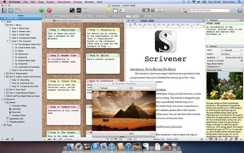 Scrivener sample