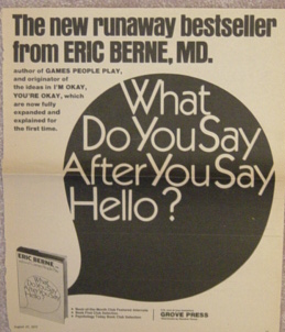 Ad for What Do You Say After You Say Hello from the New York Times