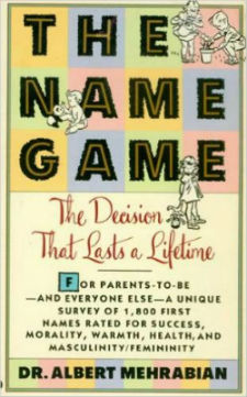albert mehrabian wrote The Name Game