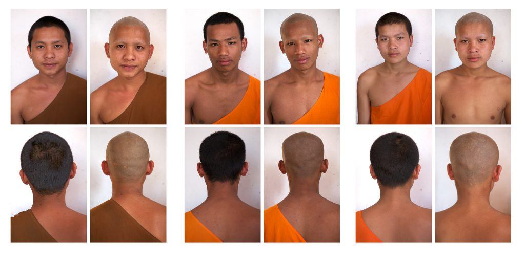 Monks pre- and after shaving
