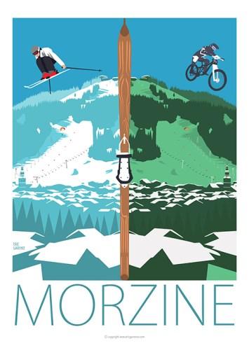 morzine Avoriaz Art Affiche Poster Galerie Eric Garence bonjourlaffiche.com affiche vintage
