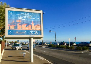 Cagnes-sur-mer-voeux-2018-French-riviera-Eric Garence-art-poster-affiche