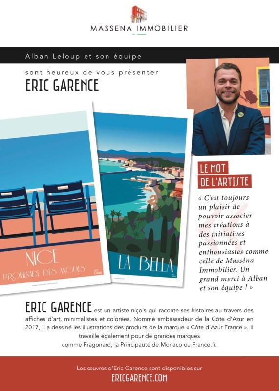 Eric Garence Exhibition Art Poster Affiche de collection Nice Cote d'azur France French Riviera Galerie d'art www.bonjourlaffiche.com