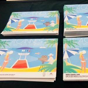 Cannes 2018 Affiche Cinéma Palais des festivals Cote d'azur France Cinéma Artwork Iles de lérins Plage Croisette Palmier