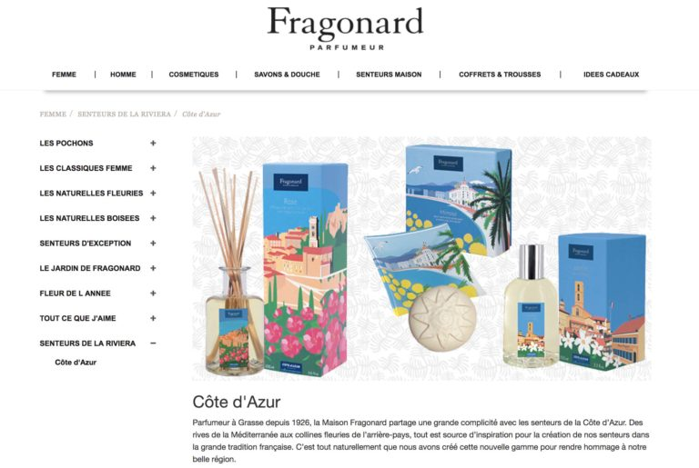 Fragonard Eric Garence Cote d'azur French Riviera Collection Parfum Cadeau Eau