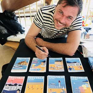 Affiches Trouville sur mer Reine des Plages Eric Garence Affichiste Savignac