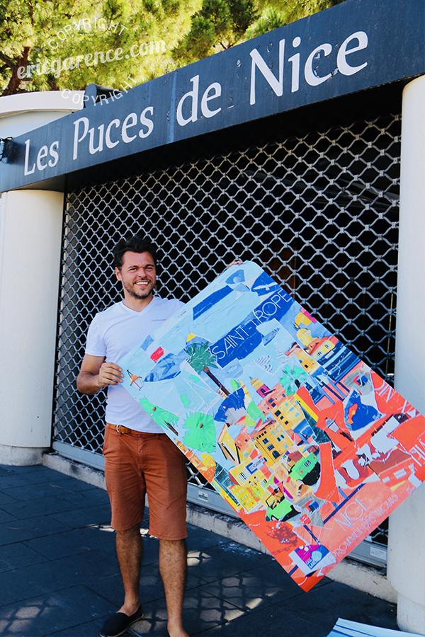 Eric Garence Exposition Phoenix Nice Ville de Nice Affiche Art Contemporain Ecole de Nice Affiche Dubai Saint Tropez French Riviera