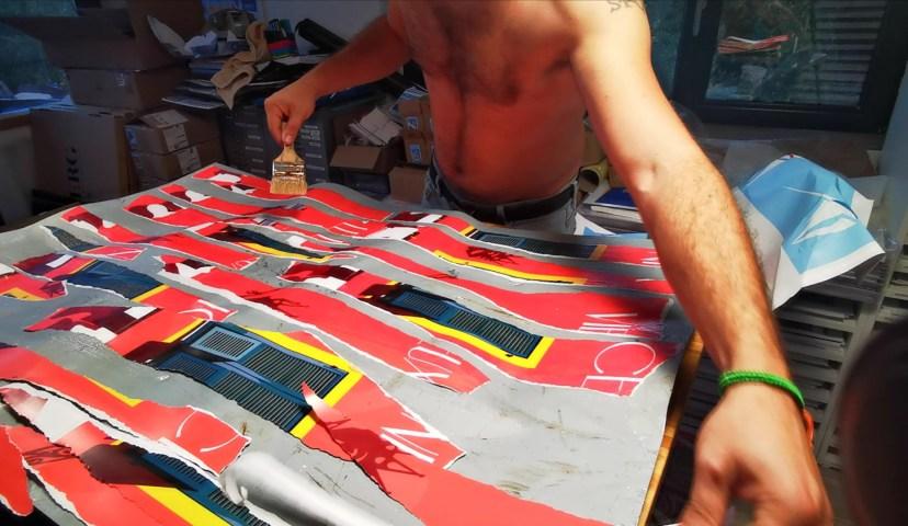 Eric Garence Phoenix Art Contemporain Nice Artist Tableau Affiche déchirée MAMAC Happening4