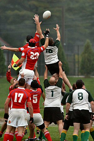 Portland Rugby Club vs Springfield, lineout, by Eric Holsinger