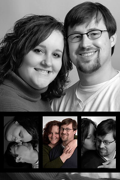 Deni and Scott's Wedding Announcement Photo by Eric Holsinger
