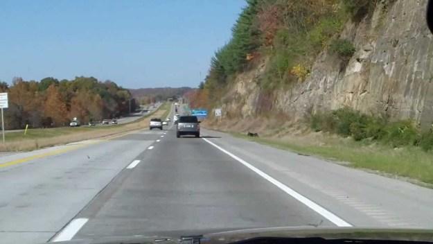 Highway I-79 near the West Virginia - Pennsylvania border