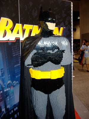 Full Size Batman made of LEGOS!