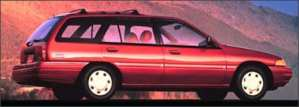 The Single Guys Chariot a Ford Escort Station Wagon in Fuchsia