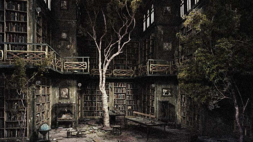 old-scary-library