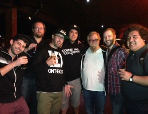 after show shot at Jokerz in Milwaukee w/ the other comedians and my friends