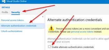 Alternate Authentication Credentials