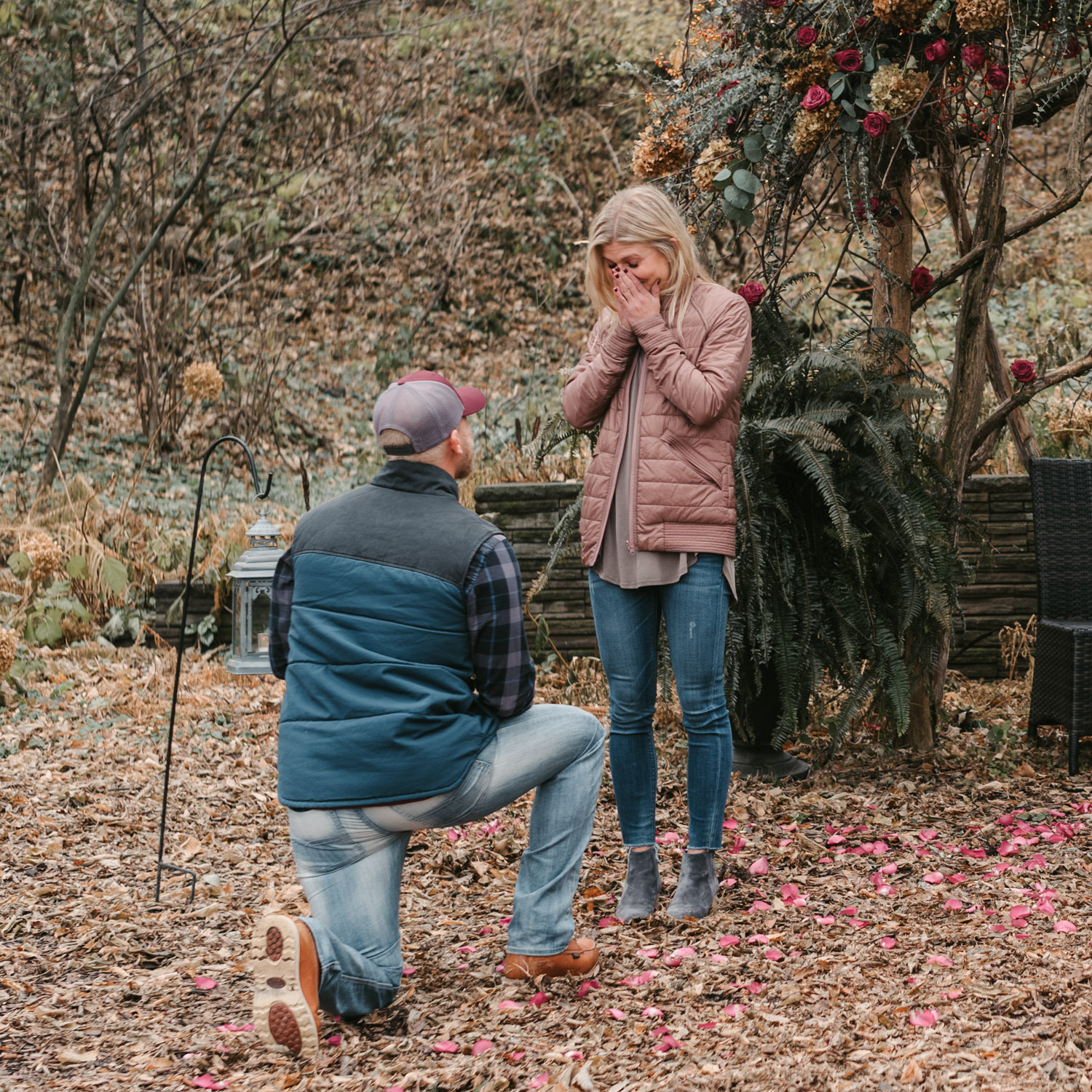 Surprise proposal at Camrose Hill Farm
