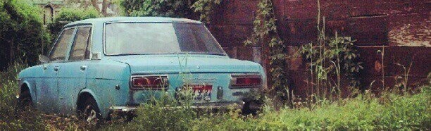Blue car. Green house. #Boise (http---instagr.am-p-K5x4imHx07-)
