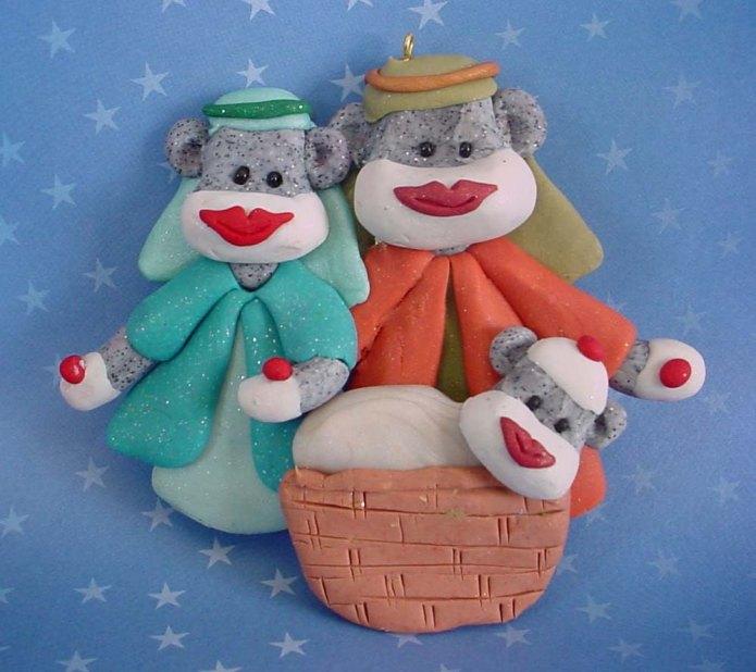 Sock Monkey Nativity - Etsy 2