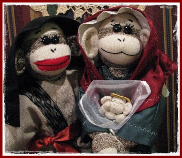 Sock Monkey Nativity - Etsy 3