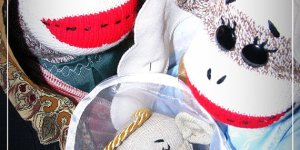 Tacky Nativity Scenes: Sock Monkey Edition