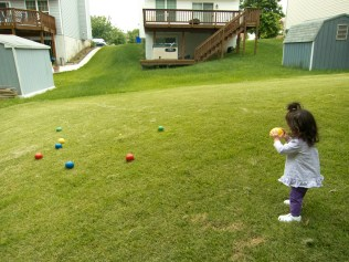 Scarlett Plays Bocce Ball 2