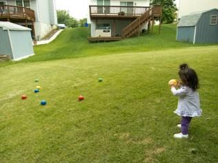 Scarlett Plays Bocce Ball 2