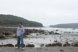 Me at Bar Harbor Low Tide