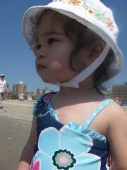 Scarlett at the Beach for the first time in a year